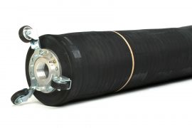 Point repair flow-through packer for 18 to 24 inch pipe repairs